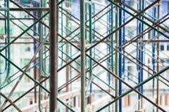 ικρίωμα Υλικά σκαλωσιάς κατασκευής/αφηρημένη σύσταση ικριωμάτων Στοκ Εικόνα