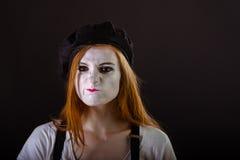 Ικτάλουρος κοριτσιών Mime Στοκ Φωτογραφίες