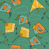 Ικτίνοι όπως το άνευ ραφής σχέδιο πουλιών Στοκ Εικόνες