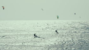 Ικτίνος που κάνει σερφ στον Ατλαντικό Ωκεανό, ακραίος θερινός αθλητισμός Κανάρια νησιά Ισπανία κίνηση αργή απόθεμα βίντεο