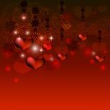 δικτυωτό πλαίσιο με δύο καρδιές Στοκ Εικόνες