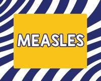 Ιλαρά γραψίματος κειμένων γραφής Έννοια που σημαίνει τη μολυσματική προερχόμενη από ιό ασθένεια που προκαλεί τον πυρετό και μια κ διανυσματική απεικόνιση