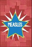 Ιλαρά κειμένων γραψίματος λέξης Επιχειρησιακή έννοια για τη μολυσματική προερχόμενη από ιό ασθένεια που προκαλούν τον πυρετό και  απεικόνιση αποθεμάτων