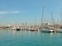 λιμάνι της Βαρκελώνης Στοκ εικόνες με δικαίωμα ελεύθερης χρήσης