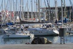 λιμένας της Βαρκελώνης vell Στοκ εικόνα με δικαίωμα ελεύθερης χρήσης