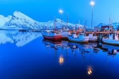 λιμενική νύχτα Στοκ εικόνες με δικαίωμα ελεύθερης χρήσης