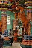Ινδή τελετή στο ναό Trincomalee στη Σρι Λάνκα Στοκ φωτογραφία με δικαίωμα ελεύθερης χρήσης