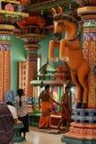 Ινδή τελετή στο ναό Trincomalee στη Σρι Λάνκα Στοκ εικόνα με δικαίωμα ελεύθερης χρήσης