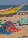 Ινδικά αλιευτικά σκάφη Beached Στοκ Φωτογραφίες