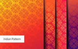 ινδικά πρότυπα άνευ ραφής διανυσματική απεικόνιση
