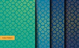 ινδικά πρότυπα άνευ ραφής απεικόνιση αποθεμάτων