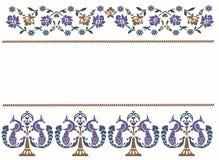 ινδικά πρότυπα λουλουδιών ανασκόπησης διανυσματική απεικόνιση