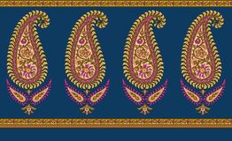 Ινδικά σύνορα του Paisley ελεύθερη απεικόνιση δικαιώματος
