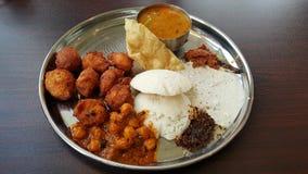 Ινδικά τρόφιμα μπουφέδων στοκ εικόνες