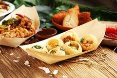Ινδικά τρόφιμα οδών Puri Pani Golgappe, στοιχείο συνομιλίας, Ινδία στοκ φωτογραφίες με δικαίωμα ελεύθερης χρήσης