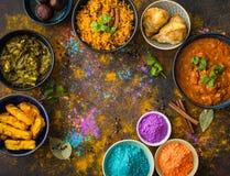 Ινδικά τρόφιμα Holi στοκ φωτογραφία με δικαίωμα ελεύθερης χρήσης