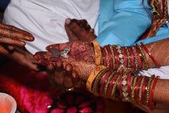 Ινδικές γαμήλιες φωτογραφίες kanyadan στοκ εικόνες