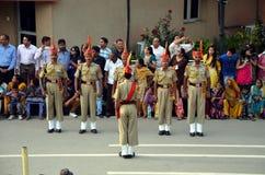 Ινδικές φρουρές στα σύνορα Wagah Στοκ εικόνα με δικαίωμα ελεύθερης χρήσης