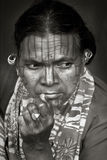 ινδικές φυλές προσώπου Στοκ Εικόνα