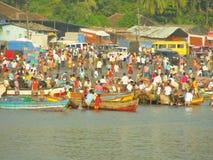ινδική αγορά ψαριών στοκ εικόνες