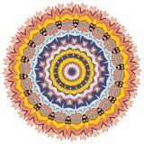 Ινδική διακόσμηση και διακοσμητικό διαμορφωμένο mandala χρωματισμού ελεύθερη απεικόνιση δικαιώματος