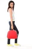 ινδική κόκκινη βαλίτσα κο&r Στοκ Εικόνες