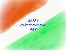 Ινδική σημαία στη σύσταση υδατοχρώματος Στοκ Εικόνα
