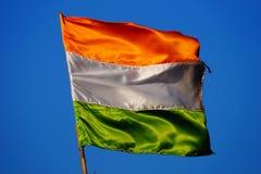 Ινδική σημαία Στοκ φωτογραφίες με δικαίωμα ελεύθερης χρήσης