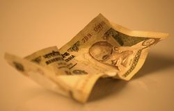 ινδική σημείωση τραπεζών Στοκ Εικόνες