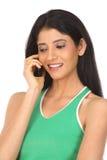 ινδική τηλεφωνική γυναίκ&alph Στοκ Φωτογραφία