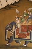 ινδική τοιχογραφία Στοκ Φωτογραφία