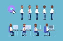 Ινδικός επιχειρηματίας ζωτικότητα Κ χαρακτήρα κινουμένων σχεδίων απεικόνιση αποθεμάτων