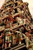 ινδικός ναός αγαλμάτων Στοκ Φωτογραφία