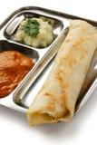 ινδικός νότος masala τροφίμων dosa Στοκ Φωτογραφίες