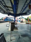 Ινδικός σιδηροδρομικός σταθμός στοκ φωτογραφία με δικαίωμα ελεύθερης χρήσης