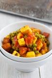 ινδικός χορτοφάγος πιάτω&nu Στοκ Εικόνες