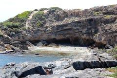Ινδικός Ωκεανός στη δυτική Αυστραλία βράχου Skippy στοκ εικόνα με δικαίωμα ελεύθερης χρήσης