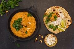 Ινδικό αρνί Korma και ρύζι Στοκ φωτογραφίες με δικαίωμα ελεύθερης χρήσης