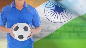 Ινδικό βίντεο σημαιών απόθεμα βίντεο