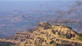 Ινδικό βουνό με την αμμοθύελλα,