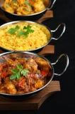 ινδικό γεύμα κάρρυ Στοκ Εικόνες