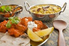 Ινδικό γεύμα Στοκ εικόνες με δικαίωμα ελεύθερης χρήσης