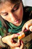 ινδικό γλυκό burfee στοκ φωτογραφίες