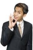ινδικό εντάξει σημάδι επιχειρηματιών Στοκ Εικόνα