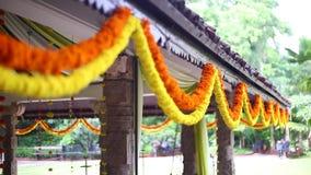 Ινδικό ινδό γαμήλιο ντεκόρ απόθεμα βίντεο