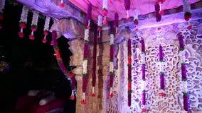 Ινδικό ινδό ντεκόρ γαμήλιου Mandap απόθεμα βίντεο