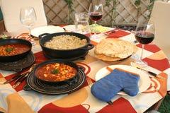 ινδικό μεσημεριανό γεύμα Στοκ φωτογραφία με δικαίωμα ελεύθερης χρήσης