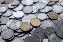 Ινδικό νόμισμα των διαφορετικών μετονομασιών Μπορέστε να χρησιμοποιηθείτε ως υπόβαθρο στοκ φωτογραφίες