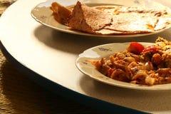 Ινδικό παραδοσιακό γεύμα στοκ εικόνες