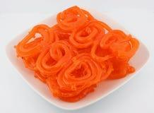 ινδικό πιάτο jalebi Στοκ φωτογραφία με δικαίωμα ελεύθερης χρήσης